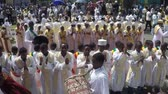 Иисус : ADDIS ABABA, ETHIOPIA - JANUARY 19: Ethiopian Orthodox followers celebrate Timket,  the Ethiopian Orthodox celebration of Epiphany, on January 19, 2013 in Addis Ababa.