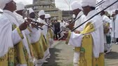 крещение : ADDIS ABABA, ETHIOPIA - JANUARY 19: Ethiopian Orthodox followers celebrate Timket,  the Ethiopian Orthodox celebration of Epiphany, on January 19, 2013 in Addis Ababa.