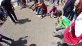 zábava : ADDIS ABABA, ETHIOPIA - JANUARY 19: A group of young people organise unofficial carnival likes games of chance and skill during Timket celebrations of Epiphany, on January 19, 2014 in Addis Ababa.