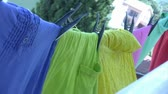 clothe : Laundry drying in the wind Stock Footage