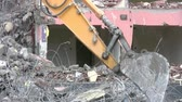 front end loader : house demolition with bulldozer