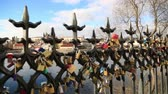 everlasting : PRAGUE, CZECH REPUBLIC - Feb 7, 2017 - Love locks at bridge  in Prague Stock Footage