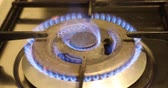 cocina de gas : Gas stove burner Archivo de Video