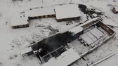 pieski : Aerial view of old saltworks factory in Drohobych. Abandoned condition of salt factory, but functionate. Smooth climb up