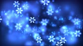 wintertime : Christmas loopable background with nice falling snowflakes Stock Footage