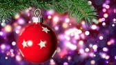 bombki : Christmas loopable background with nice ball Wideo