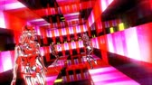 sulco : Beautiful girls dances and moves in a neon nightclub. Loopable. Stock Footage