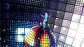 sulco : Beautiful girl dances on disco ball. Loopable.