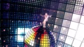 паз : Beautiful girl dances on disco ball. Loopable.