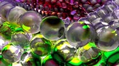 кубик льда : Ice abstract spheres rotating in slow motion. Loopable Background. Стоковые видеозаписи