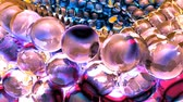 demolida : Ice abstract spheres rotating in slow motion. Loopable Background. Stock Footage