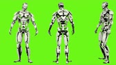 considerar : Robot android is drunk idle. Realistic looped motion on green screen background. 4K. Stock Footage