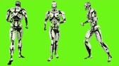 considerar : Robot android running. Realistic looped motion on green screen background. 4K. Stock Footage