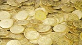 木箱 : A lot of pirate doubloons in one pile. Pirate wealth and treasure.