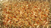 calibro : Seamless 4K loop animation of a pile of bullets lying in a mess.