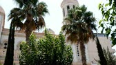chypre : View of Ayia Napa Cathedral in Limassol, Cyprus. Beautiful view of Ayia Napa in the morning. Vidéos Libres De Droits