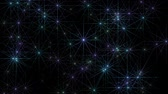 anahtar : Star rays motion graphics with dark background Stok Video