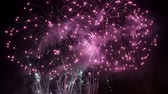 Collage of colorful fireworks exploding in the night sky Dostupné videozáznamy