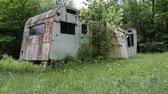 Old broken down mobile home
