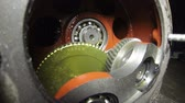 lubrication : Speed reducer view of gears inside. HD1080p. Stock Footage