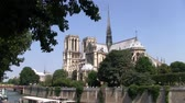そのまま : Curch Notre Dame de Paris intact with Crossing Tower before the Fire on the Ile de la Cite circa July 2013 in Paris, France
