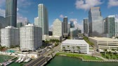 wolkenkratzer : Miami Downtown Brickell Aerial Lift Up