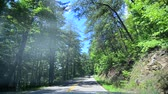 dumanlı : driving on tail of dragon road in north carolina Stok Video