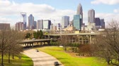 Skyline of Charlotte, North Carolina Wideo