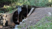 vintage steel waterwheel
