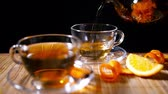 herb : Pouring Blooming Tea with Cinnamon and Orange 2