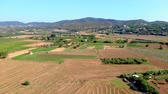 drone point of view : Nice spanish landscape drone footage, near the town Palamos