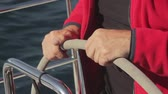 regata : hands holding the steering wheel