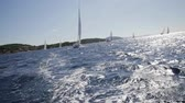 regata : Several boats at sea Stock Footage