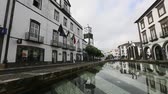 madeira : PONTA DELGADA AZORESPORTUGAL  JUN 15 2015: Praca da Republica in Ponta Delgada. City is located on Sao Miguel Island 232.99 km2 Region capital under the revised constitution of 1976.