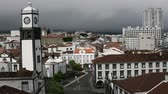san miguel : Top view of center Ponta Delgada, Azores, Portugal. HD