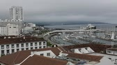 san miguel : Top view of the Marina of Ponta Delgada, Sao Miguel Island, Azores.