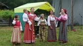 chamaenerion : GRISHINO, RUSSIA - JUL 30, 2016: Unidentified participants of the Festival of folk culture Russian Tea. Festival held annually in Grishino ecovillage since 2012.