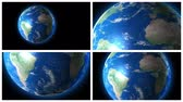 longitude : Planet Earth rotation in 4 elements. 4K animation