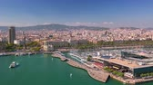 BARCELONA, CATALONIA - JULY 26th 2017: timelapse of port Barcelonetta from above