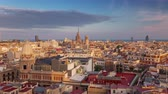 BARCELONA, CATALONIA - JULY 26th 2017: Timelapse of city centre from above rooftop architecture Dostupné videozáznamy