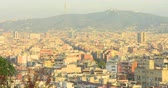 BARCELONA, CATALONIA - JULY 15th 2017: View of Barcelona from above hill. Summer sunny day Dostupné videozáznamy