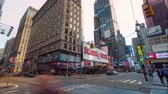 império : NEW YORK, US - 25 april 2018: Manhattan midtown day timelapse near Times square, business buildings