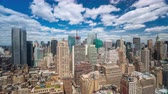 chrysler building : NEW YORK, USA - MAY, 2018: Manhattan Rooftop view Day Timelapse clouds passing by Stock Footage