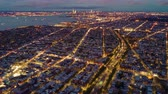 beautiful building : Aerial view on sunset above Brooklyn, New York City. Timelapse dronelapse. Stock Footage