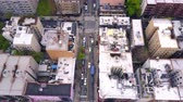 upper east side : Aerial view of New York, Midtown Manhattan. Residental buildings, streets ans crossroads from above.