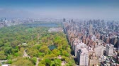 icônico : Aerial view of Central Park, Upper East and West Side Manhattan and Midtown Manhattan, New York, USA