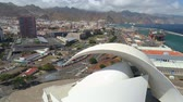 kanarek : SANTA CRUZ DE TENERIFE, SPAIN - MAY, 18, 2018 Aerial view of Auditorio de Tenerife from above.