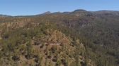 лава : Aerial view of the Teide National Park, flight over the mountains. Tenerife, Canary Islands Стоковые видеозаписи