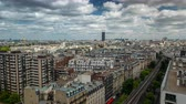 beautiful building : PARIS, FRANCE - JUNE 19, 2018: Timelapse of a city from above. Fast movement.