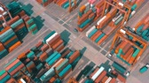HONG KONG - MAY 1, 2018: Aerial view of a modern port container terminal. Import and export, business logistic.